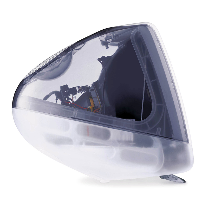 Clear plastic computer design
