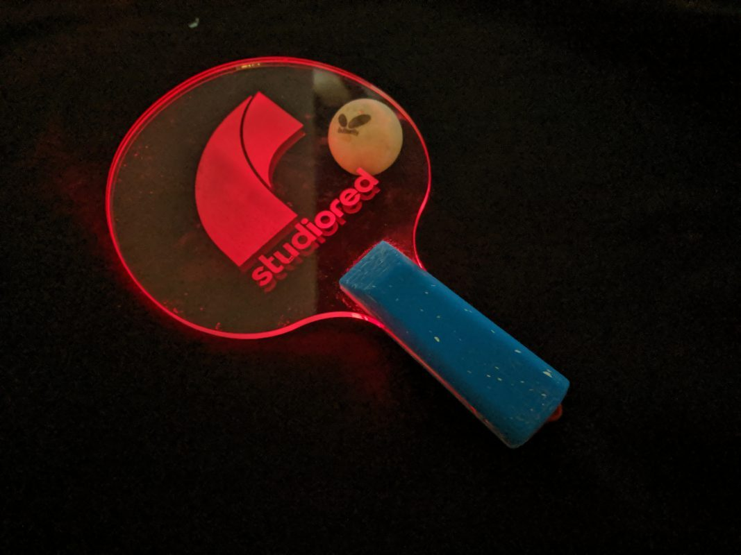 lighted pingpong paddle