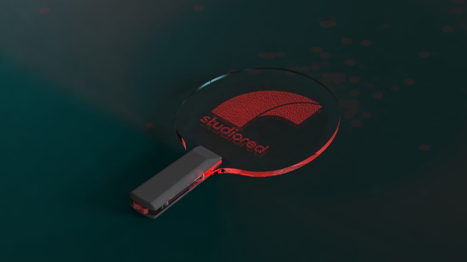 rendered pingpong paddle
